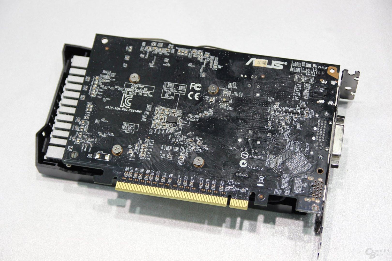 Asus GeForce GTX 750 Ti Strix Rückseite
