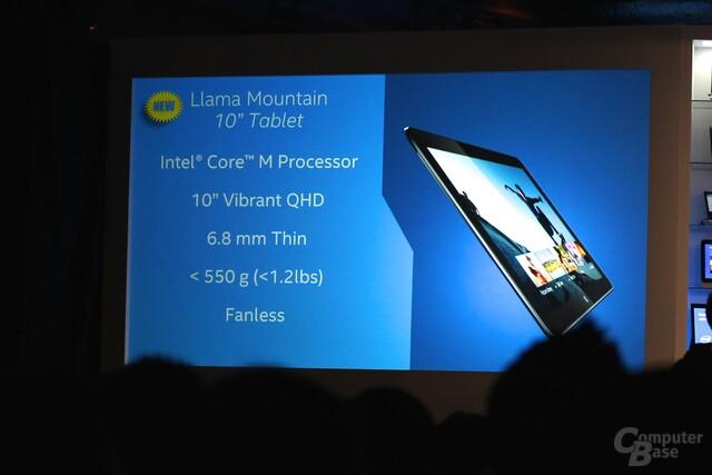 Tablet-Referenzdesign mit Core M: Das Llama Mountain 10