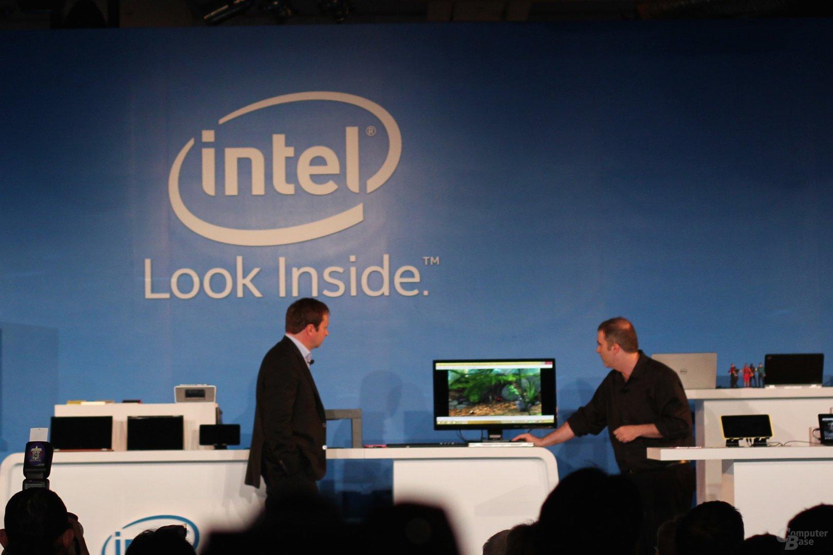 Intel WiGig-Demonstration zur Computex
