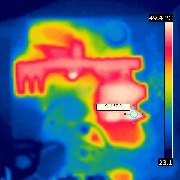 Wärmebild Corsair RM 550 Watt bei 20% Last