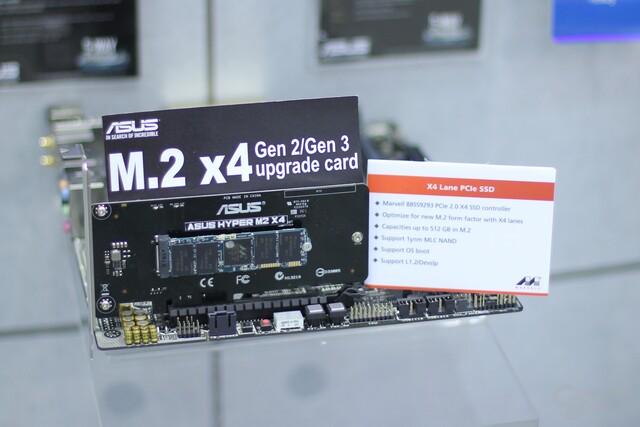 Die Asus Hyper M2 X4 bringt M.2 auf alte Mainboards
