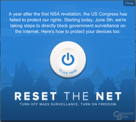 """Reset the Net""-Aktionstag"