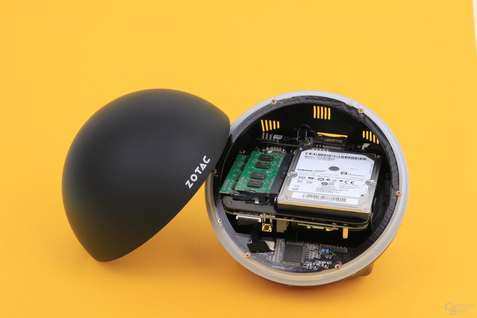 Zotac Zbox Sphere OI520 geöffnet