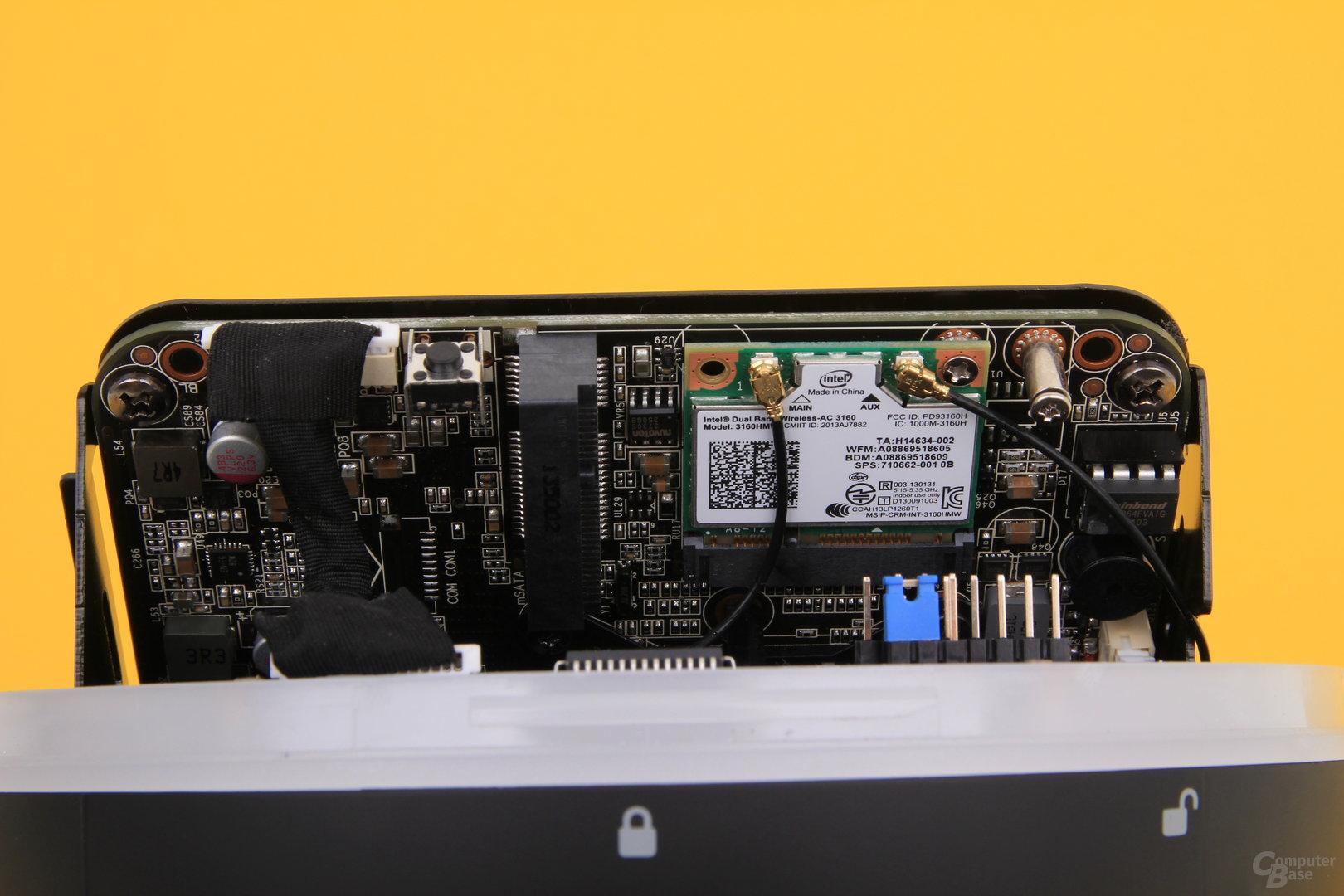 Zotac Zbox Sphere OI520 – WLAN und mSATA-Slot