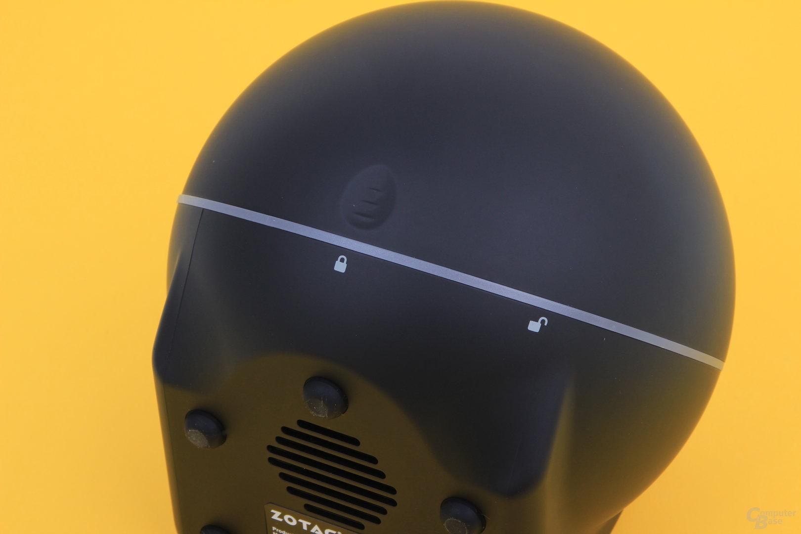 Zotac Zbox Sphere OI520 – drehbarer Deckel
