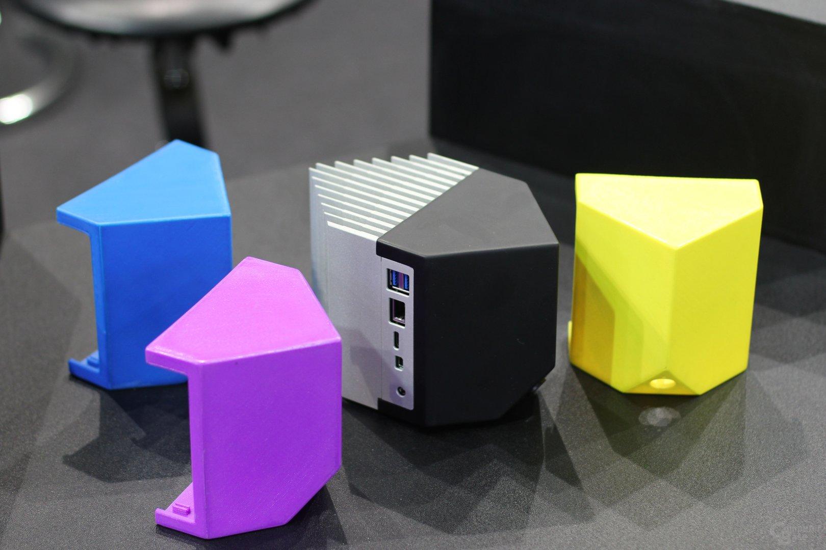 Mini-PC-Gehäuse für Intels NUC mit Front aus dem 3D-Drucker