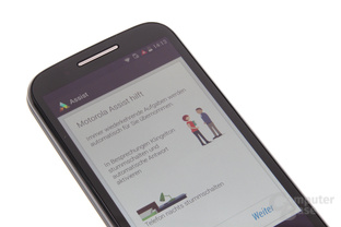 Motorola Moto E im Test: Assist / Alert / Android-Version