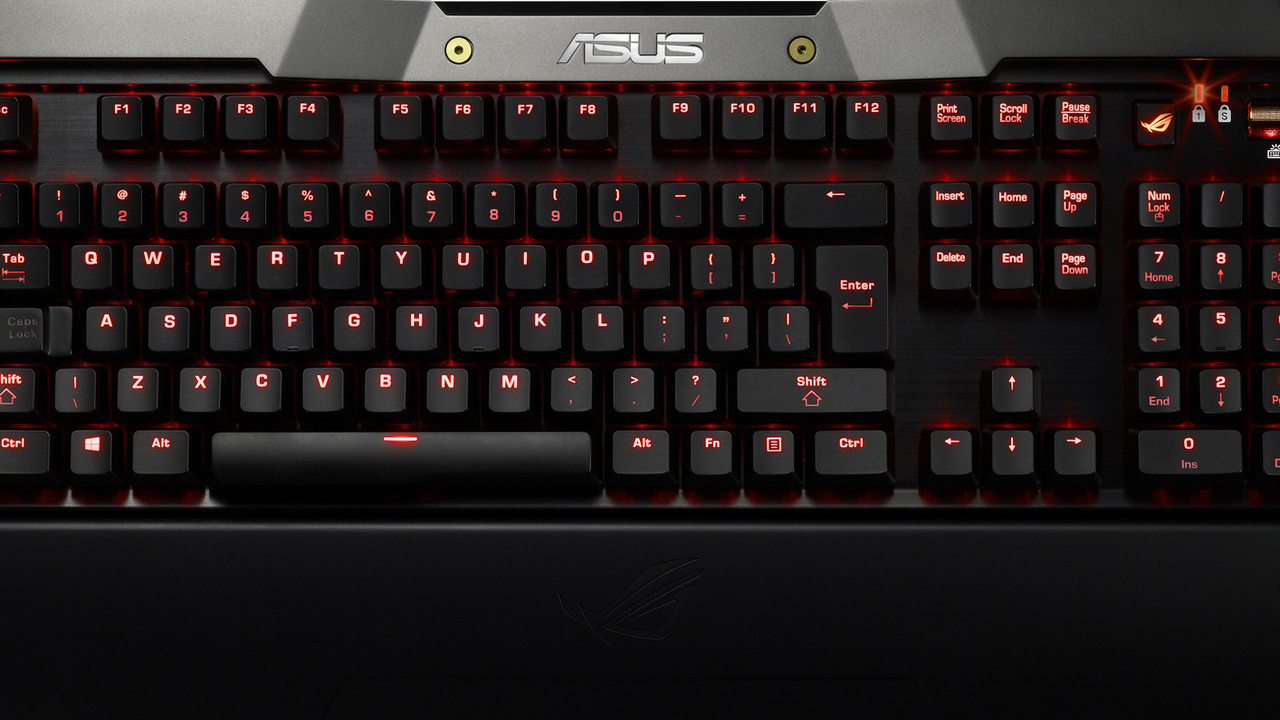 "Asus: Mechanische Tastatur GK2000 unter ""ROG""-Flagge"