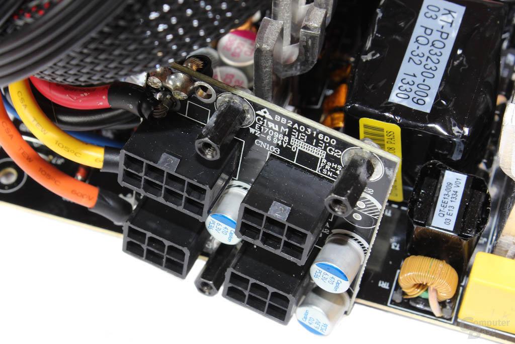 Corsair CS450M – Kabelmanagementplatine mit Filterungskondensatoren