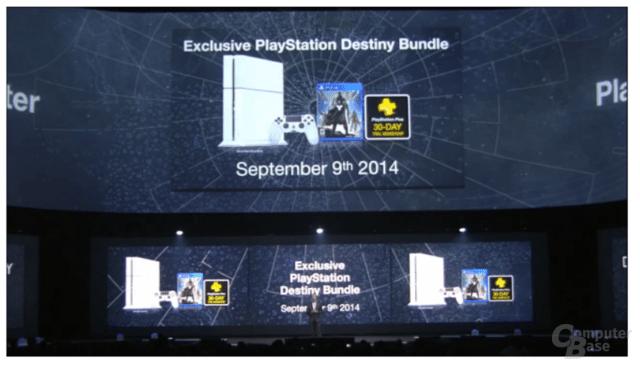 Weiße PlayStation 4 im Destiny-Bundle