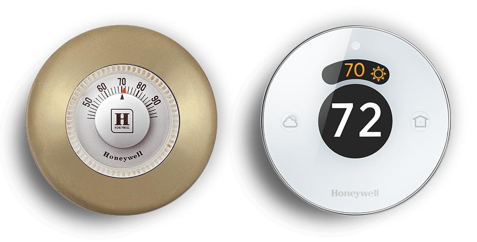 Honeywell Thermostat aus den 1950ern / Lyric