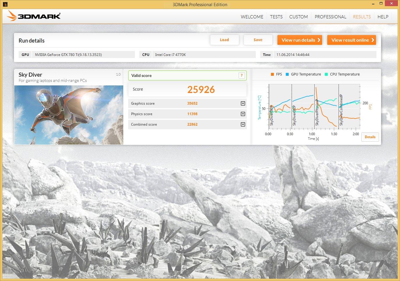 Sky Diver – Nvidia GeForce GTX 780 Ti