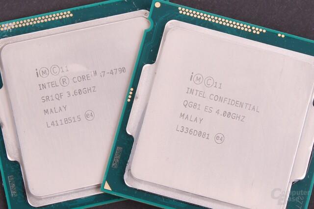 400 MHz trennen Core i7-4790 und 4790K
