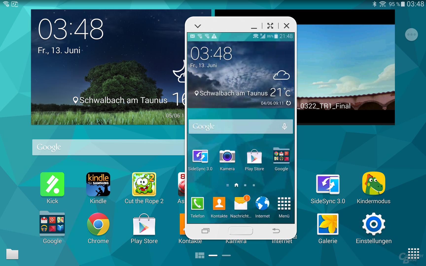 SideSync 3.0 – Galaxy S5 gespiegelt