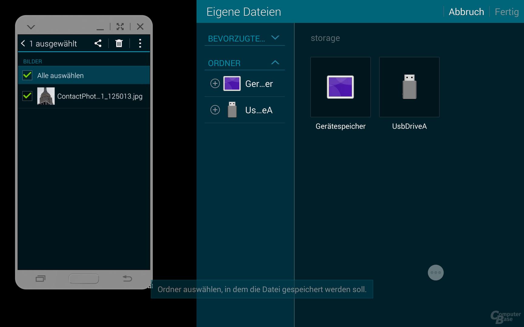 SideSync 3.0 – Dateien verschieben