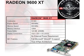 Radeon 9600 XT - techn. Merkmale