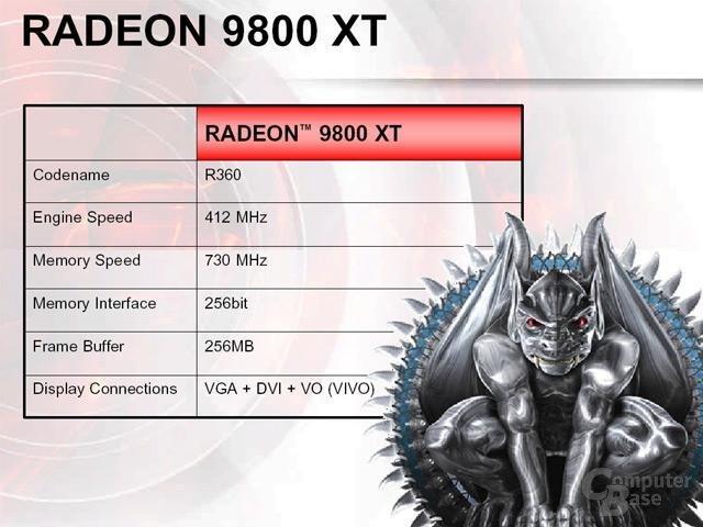 Radeon 9800 XT - techn. Merkmale