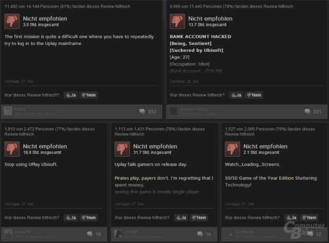 Zahlende Kunden sehen aktuell keinen Mehrwert in Uplay, wie die Reviews auf Steam verraten