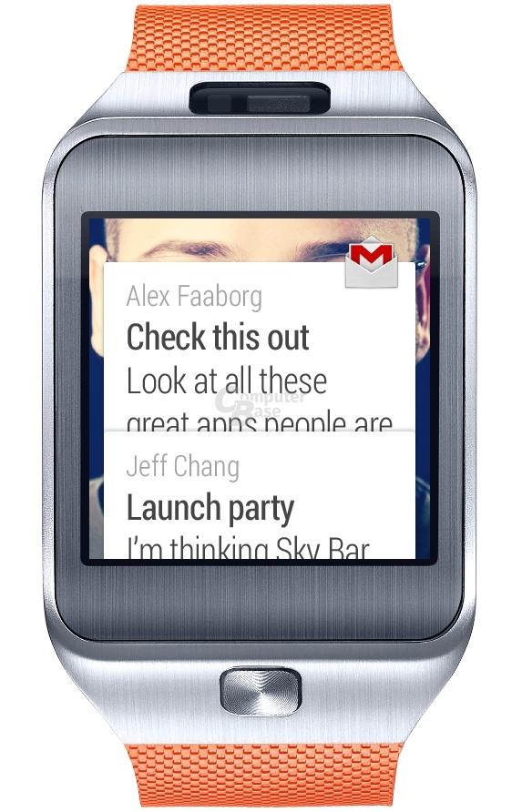 Samsung Gear 2 mit Android Wear (ComputerBase-Mockup)