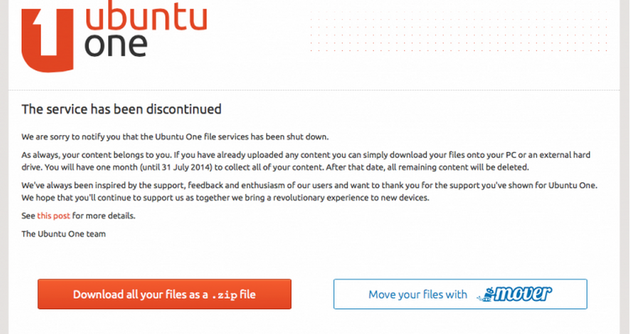 Ubuntu One Disclaimer