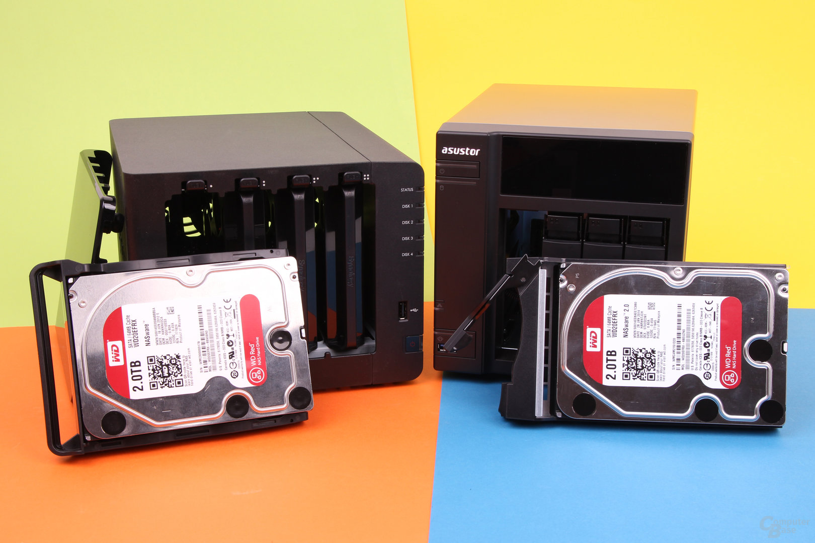 Synology DS414 & Asustor AS-204TE