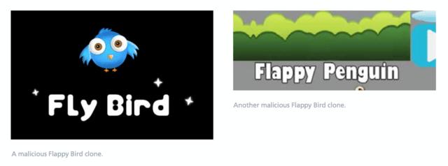 Flappy-Bird-Klone als Malware-Schleudern