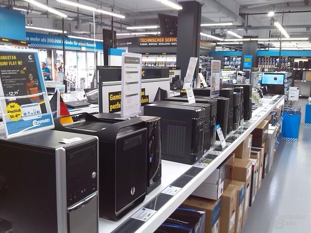Komplett-PCs bei Conrad: Seit dem 1. Juli sollten sie Angaben zum Energieverbrauch tragen