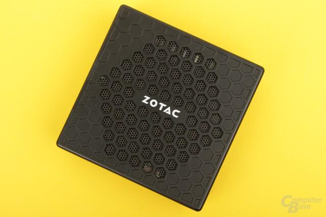 Die Zotac Zbox nano CI540 mit offener Wabenstruktur