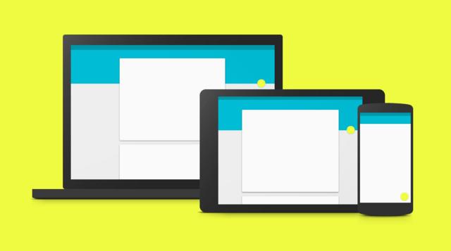 Material Design auf Notebook, Tablet und Smartphone