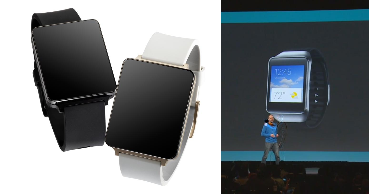 LG G Watch und Samsung Gear Live