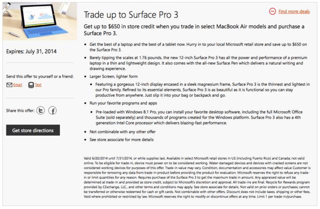 Bis zu 650 US-Dollar Gutschrift für ein MacBook Air