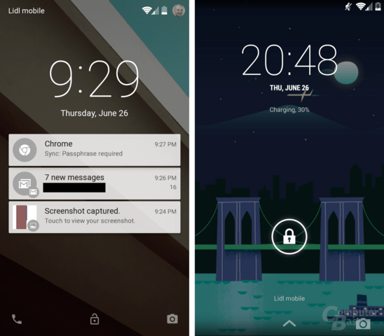 Android L / Android 4.4 KitKat – Lockscreen