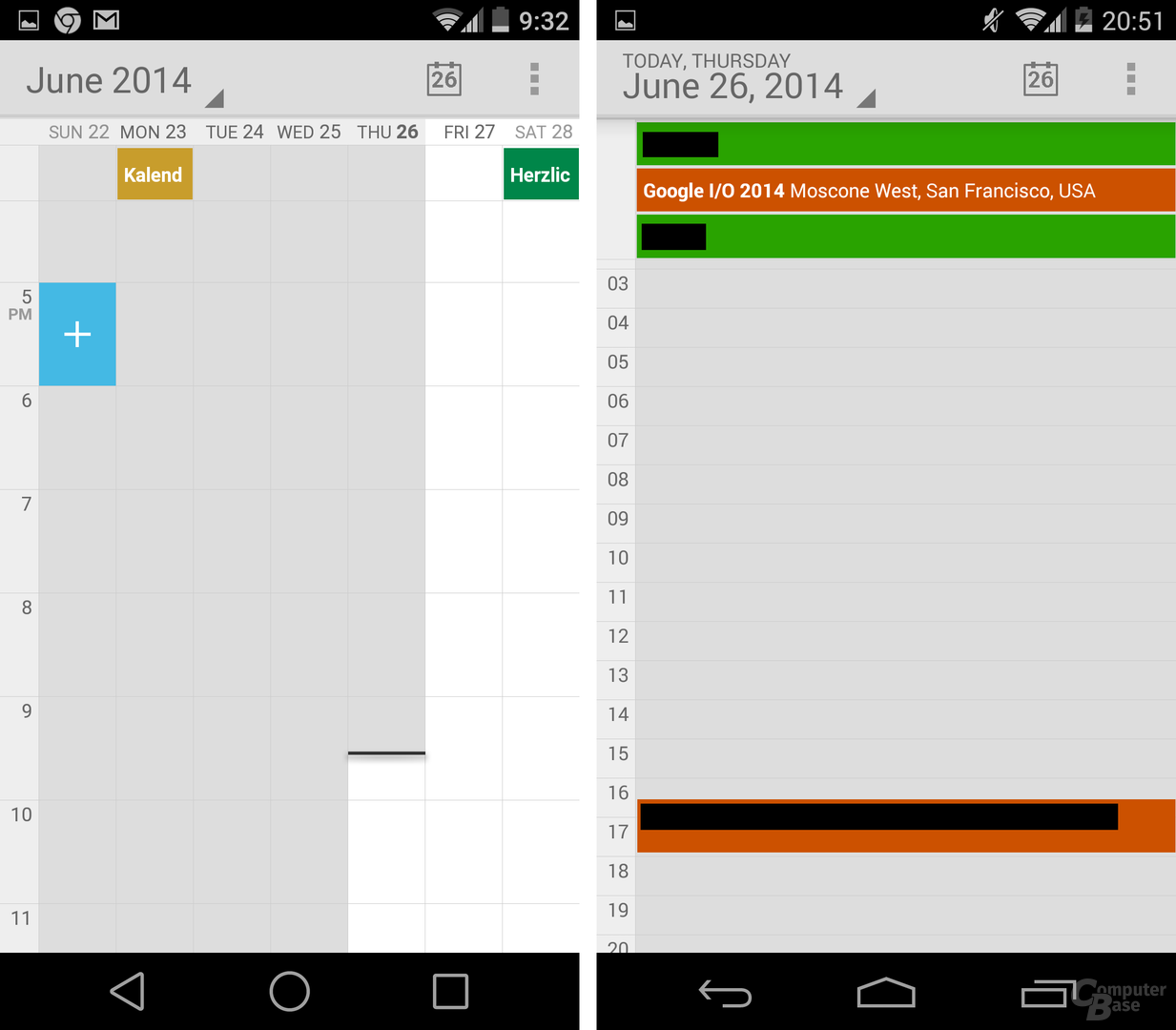 Android L / Android 4.4 KitKat – Kalender