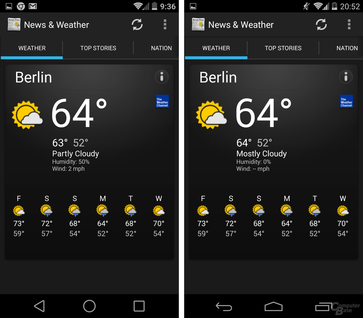 Android L / Android 4.4 KitKat – News & Weather