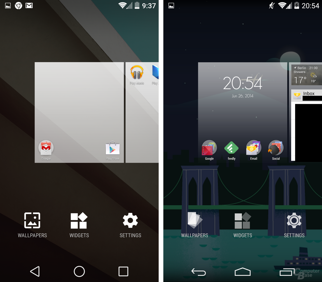Android L / Android 4.4 KitKat – Homescreen anpassen