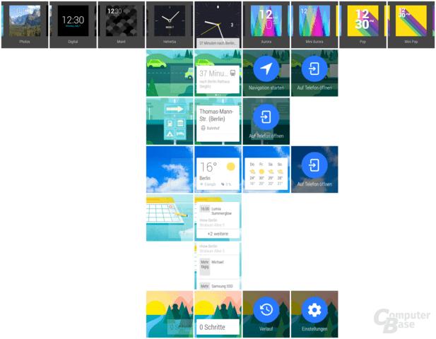 Typische Darstellung von Android Wear an einem Morgen