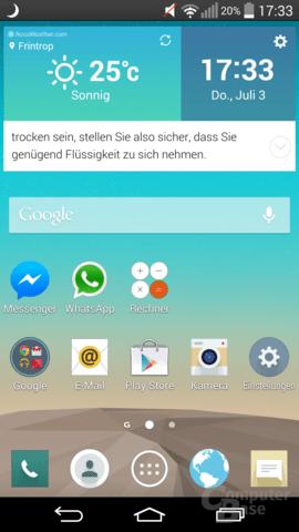 LG G3 im Test – Oberfläche
