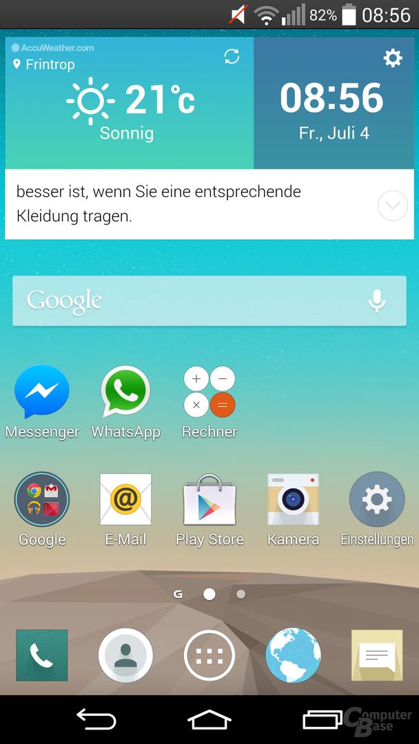 LG G3 im Test – Oberfläche - Smart Notice