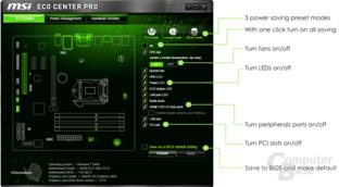 Eco Center Pro - Komponenten abschalten