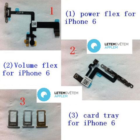 Vermeintliche Bauteile des iPhone 6