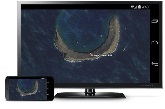 Chromecast spiegelt Android auf den Fernseher