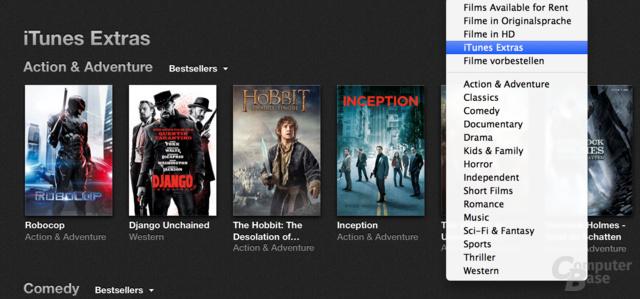 """Neu bei iTunes 11.3: """"Extras"""" für gekaufte Filme"""