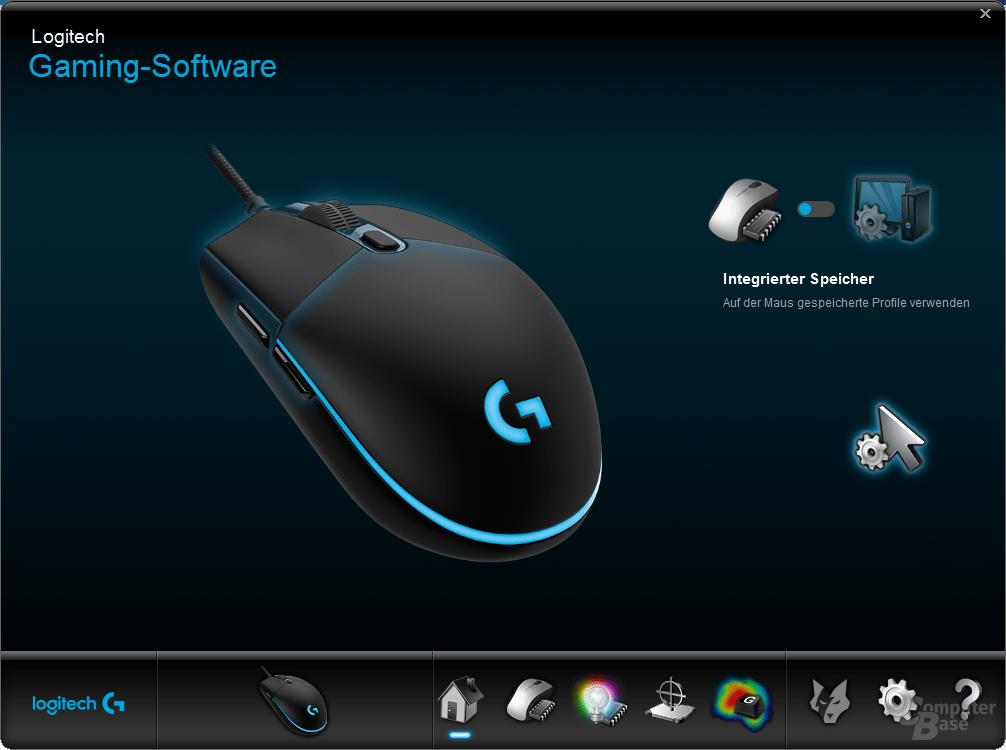 Logitech Gaming Software – Homescreen