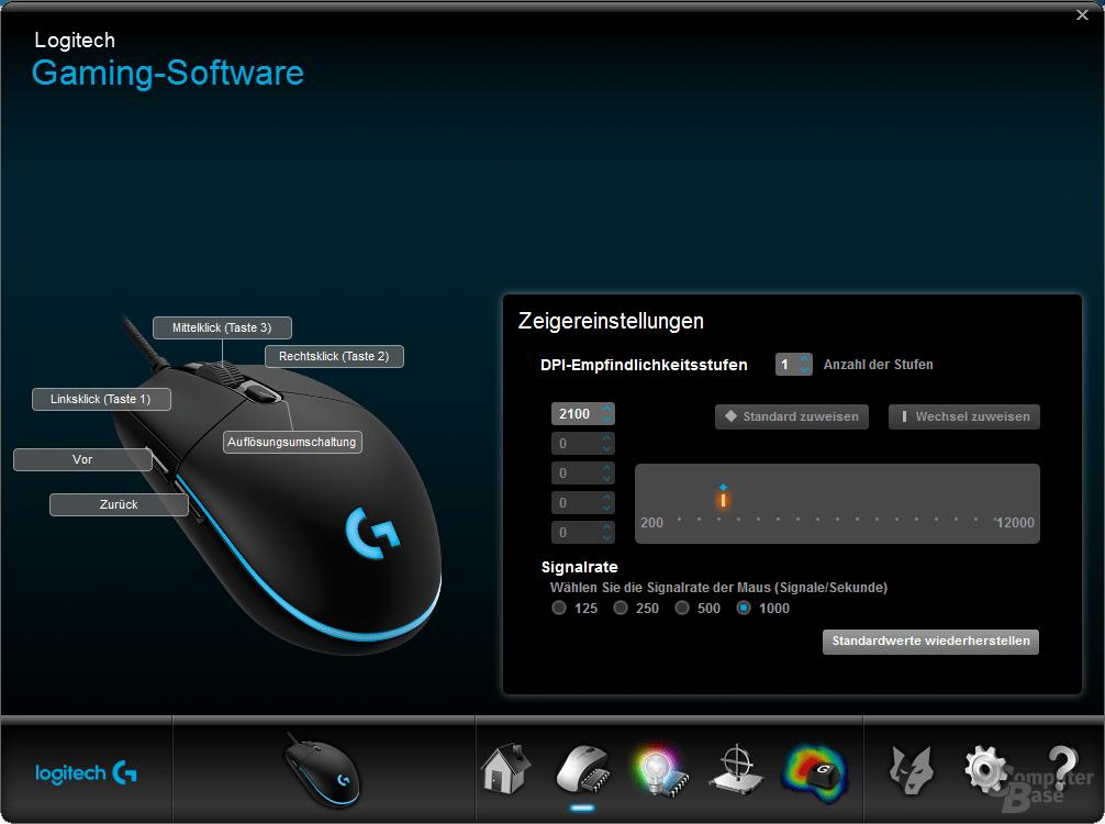 Logitech Gaming Software – Tastenbelegung und DPI einstellen