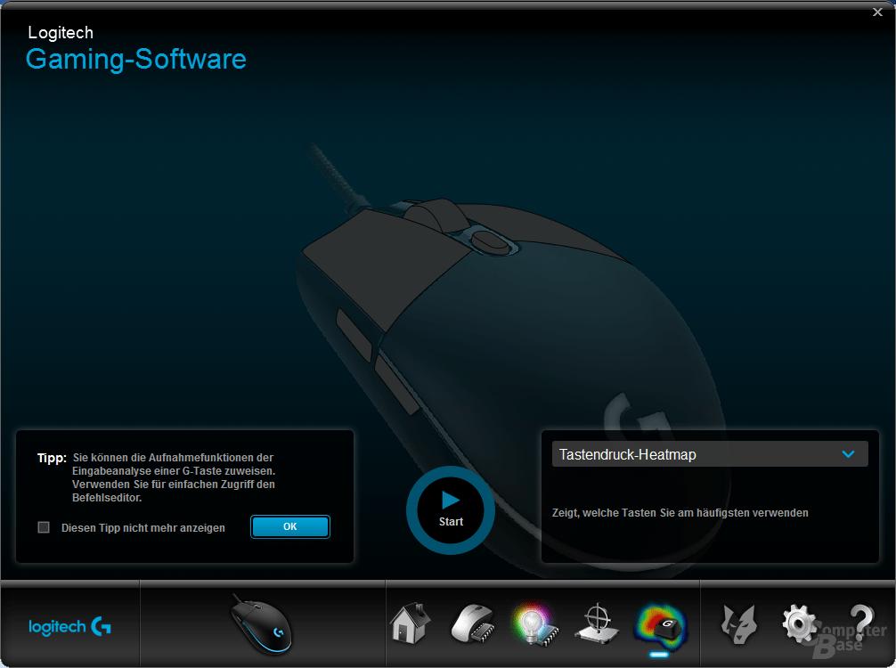 Logitech Gaming Software – Tastendruck-Heeatmap erstellen