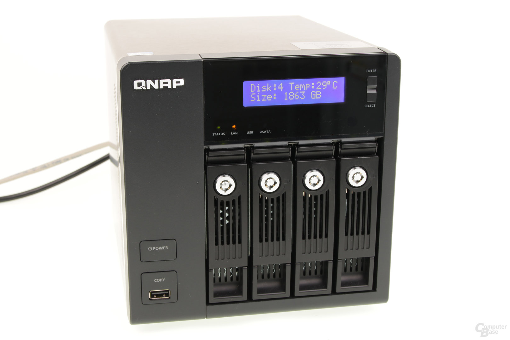 Display der QNAP TS-469 Pro