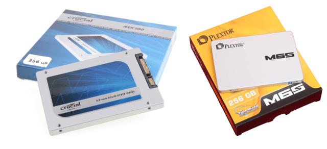 Crucial MX100 und Plextor M6S mit 256 GB