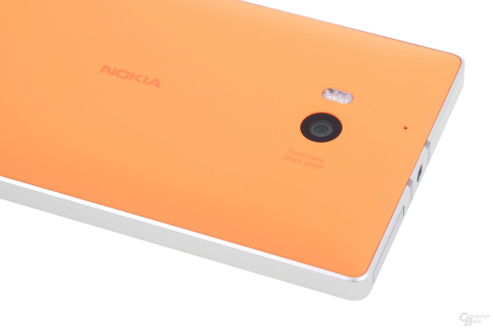 Rückseite in Neon-Orange