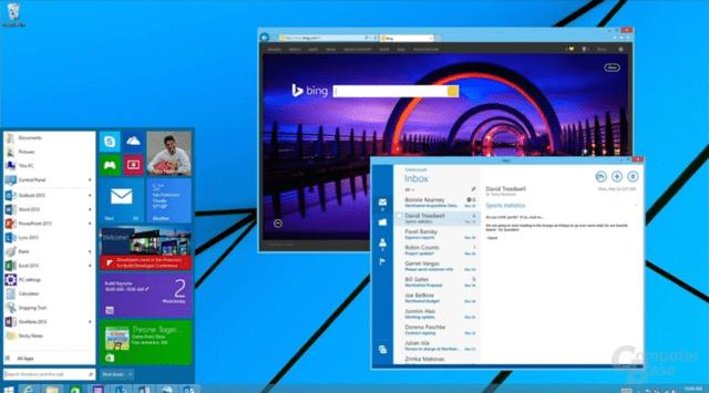 """Bereits aus dem April 2014 bekannt: Der Entwurf eines Startmenüs für """"Windows 9"""""""