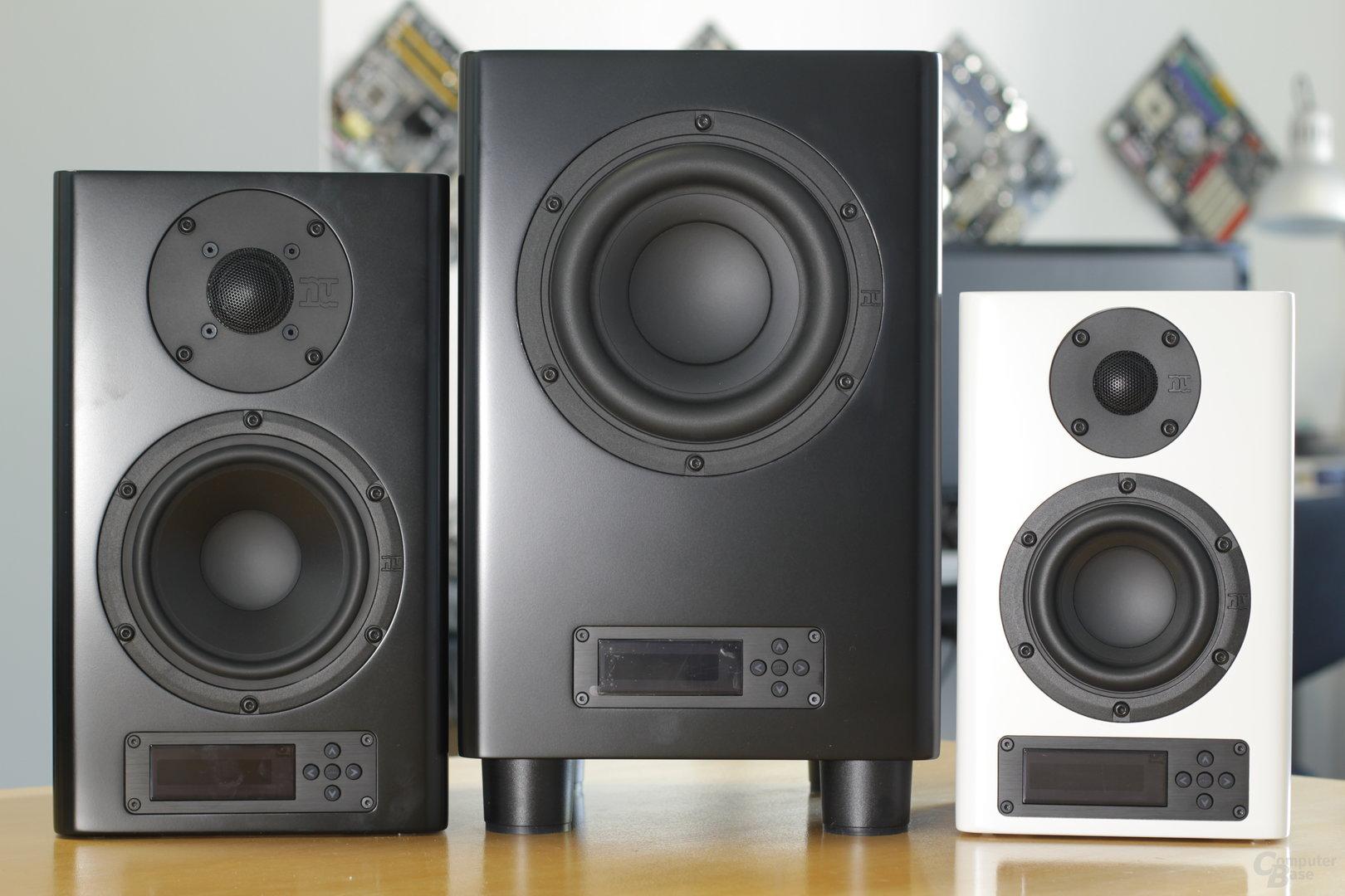 NuPro A-200, AW-350 und A-100 im Größenvergleich